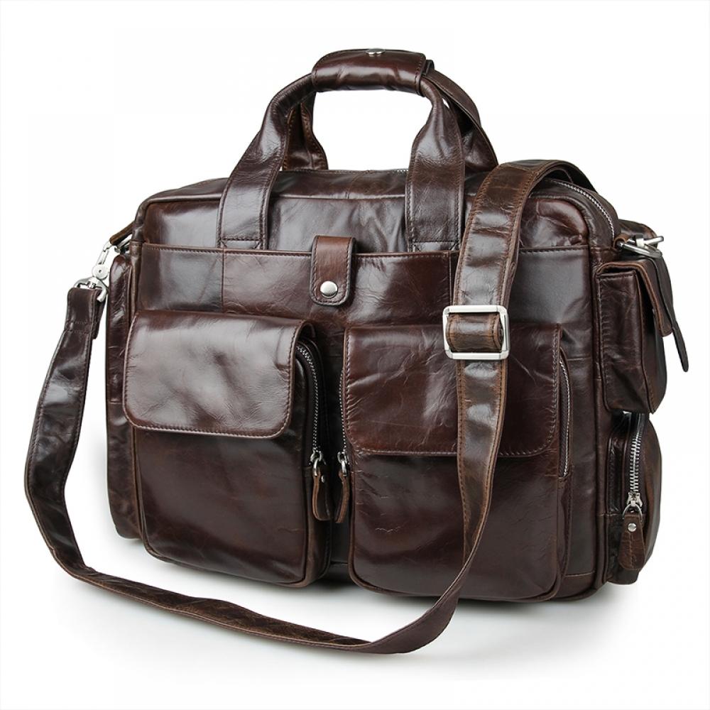 5598f436 Сумки: Мужская сумка из натуральной кожи коричневая 7219BN