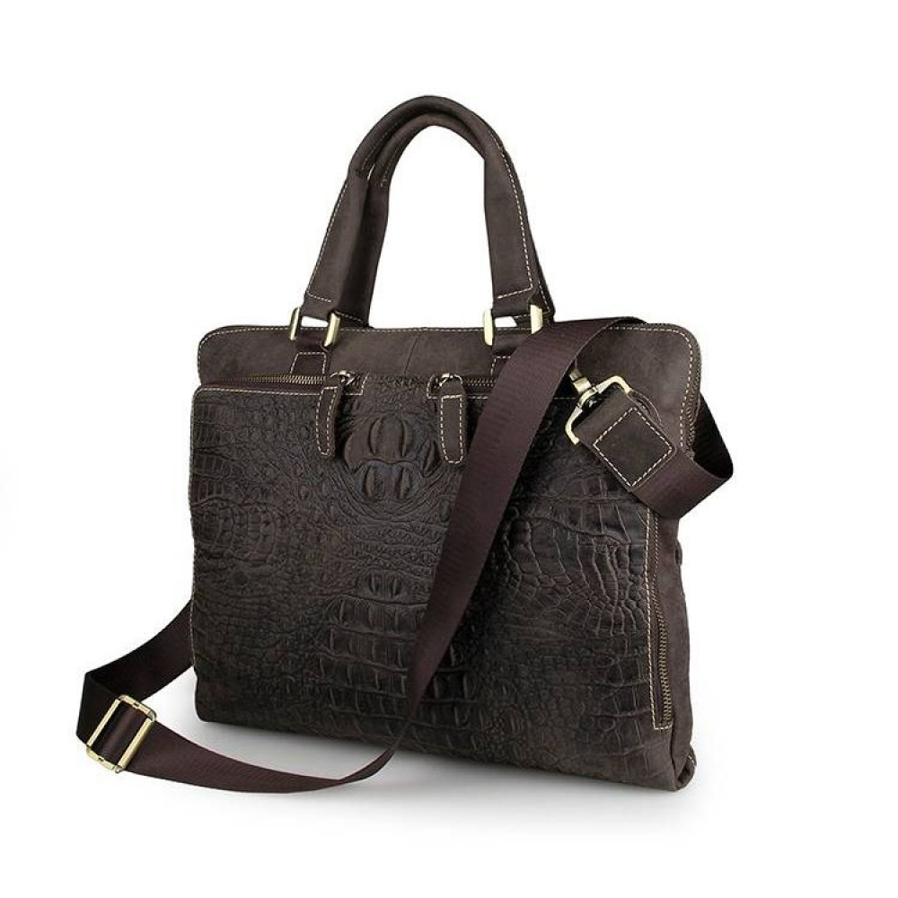 507ab4158281 Сумки: Мужская сумка из натуральной кожи крокодил 7294CL